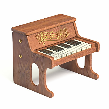 wooden tiny piano toy 3d