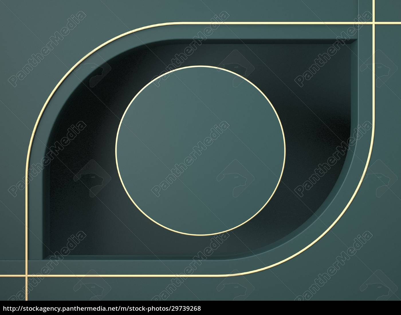 mock, up, circle, with, golden, outlines - 29739268