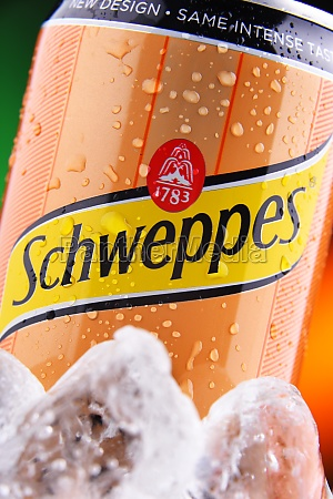 can of schweppes swiss carbonated soft