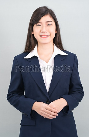 portrait of asian business woman standing