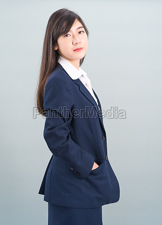 portrait of asian businesswoman isolated on