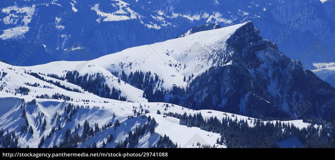 gonzen, in, winter., view, from, chaserrugg. - 29741088