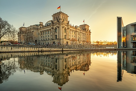 the famous reichstag building in berlin