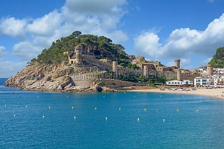 tossa de mar costa brava catalonia