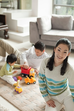 parents and children play games
