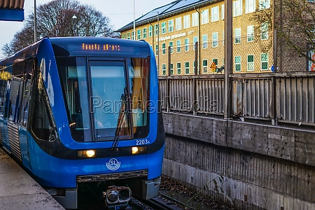 railway of stockholm sweden