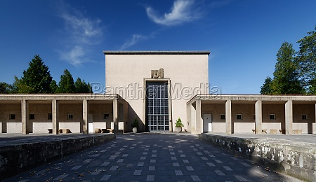historic mourning hall and crematorium at