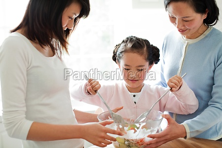 a family of parent child interaction