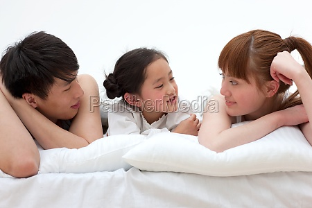 girl 5 to 10 family affection
