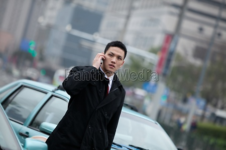 oriental traffic adult communication professional attire