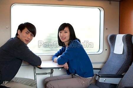 a couple by train