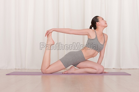 yoga mat oriental barefoot rest the