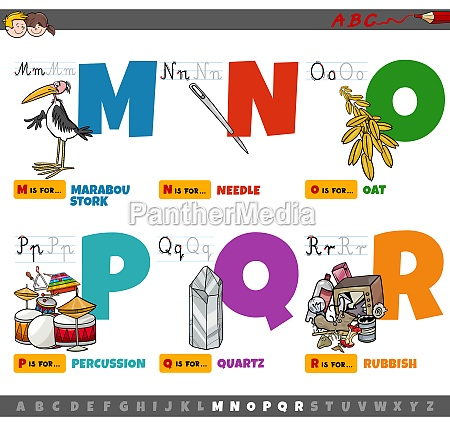 educational cartoon alphabet letters for children