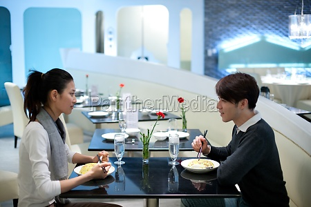 a couple in the restaurant