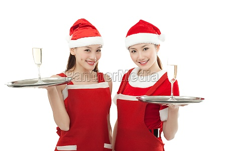 the two women happy christmas