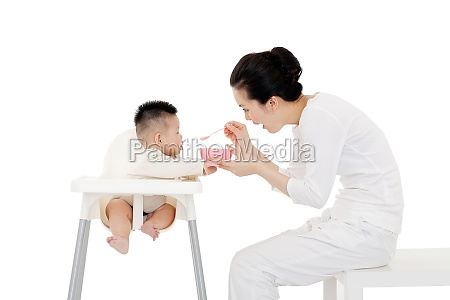 mothers feed their children