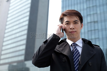 white collar business in front of