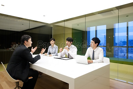 open business meeting in the office