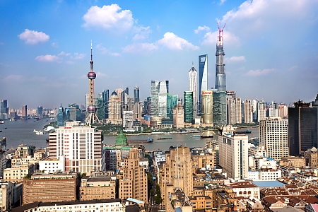 cityscape architectural exterior asia business lujiazui