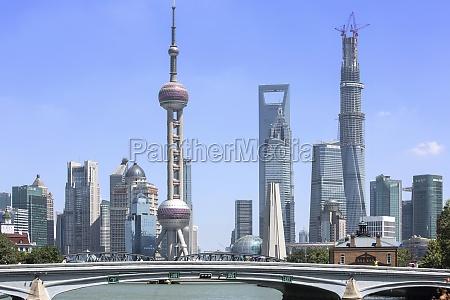sunny day river landscape business oriental