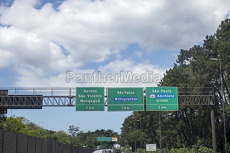 highway sign information brazil sao paulo