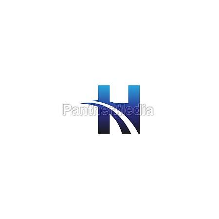 letter h logo design business template