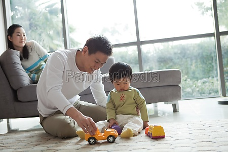 son asians tutoring young woman warm