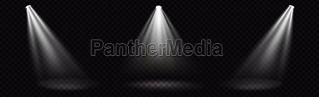set realistic lighting light rays on
