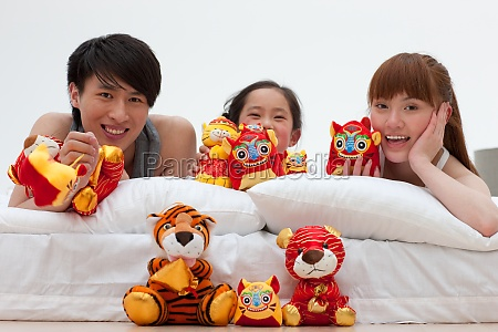 mother cloth toys tiger asia husband