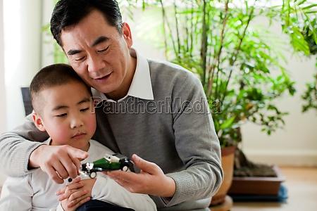 family oriental asia grandson elder children