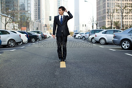 yellow line young men professional attire