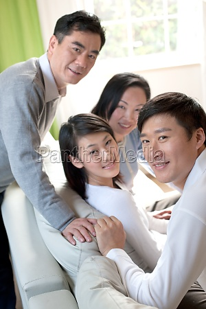 reunion mother adult male husband parents