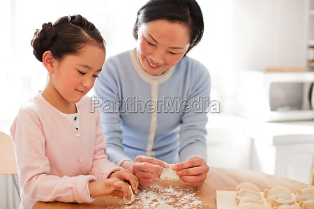 asia grandmother granddaughter warm longevity chinese