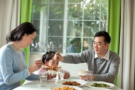 oriental figures family warm older woman
