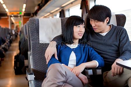 hug asian man and friend asia