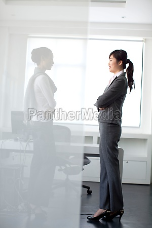 young woman white collar workers staff