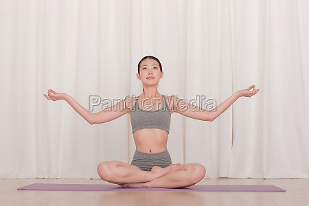 relax yoga mat stretch fitness sportswear