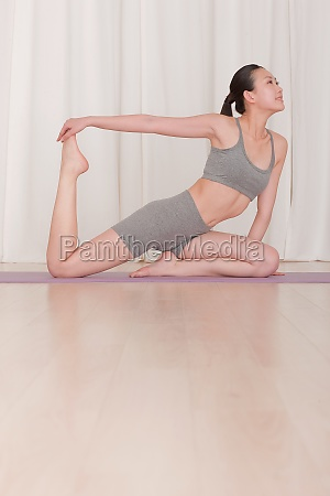 exercise relax yoga mat indoor leisure