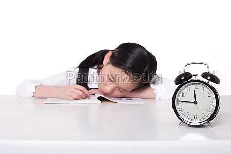 tired alone education asia clock 10