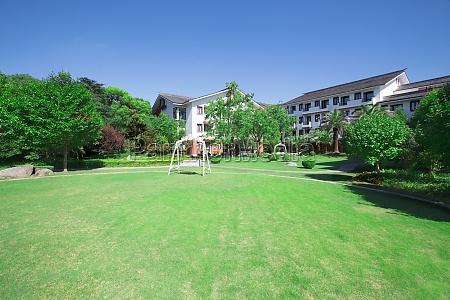 swing travel residential blue sky horizontal