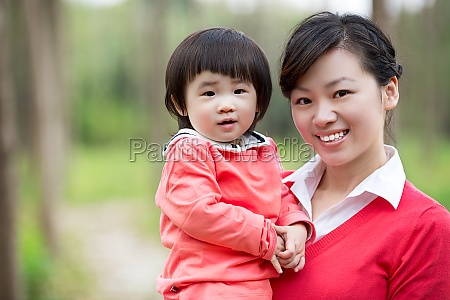 warm family affection adult women childhood