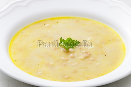still life of bean soup
