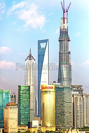 financial centre shanghai central building scenery