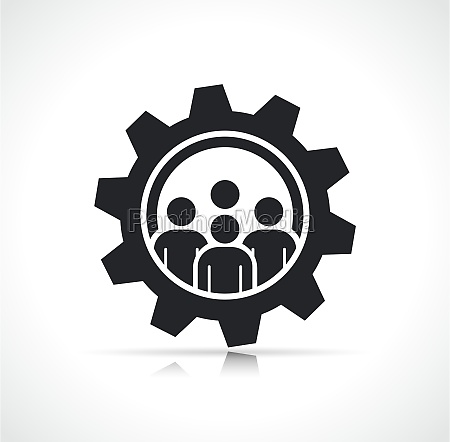 vector business work team icon