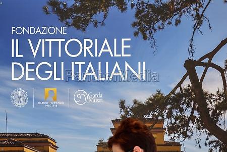 italian victory monument in gardone riviera