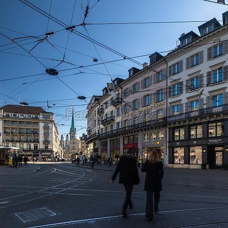 paradeplatz square zurich city switzerland