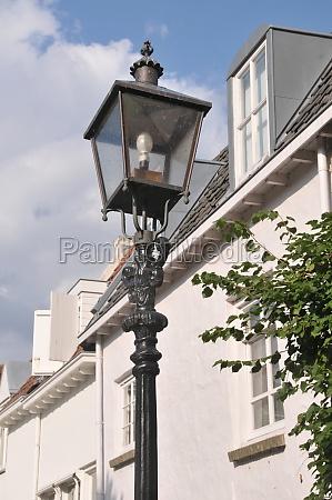 street lamp in harderwijk in the