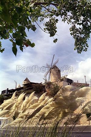 windmill in palma de mallorca
