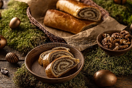 sliced homemade walnut loaf