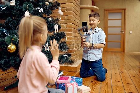 children bloggers records christmas vlog on